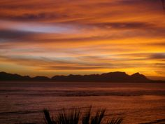 Breathtaking Sunset over False Bay, Western Cape, South Africa. Taken from Beach Road, Strand.