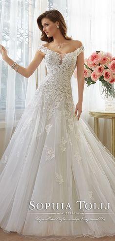 Sophia Tolli Wedding Dresses Collection Spring 2016 | http://www.tulleandchantilly.com/blog/sophia-tolli-wedding-dresses-collection-spring-2016/