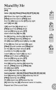 Ukulele Fingerpicking Songs, Ukulele Chords Songs, Ukulele Tabs, Ben E King, Music Lyrics, Music Stuff, Sheet Music, Guitar, Tutorials