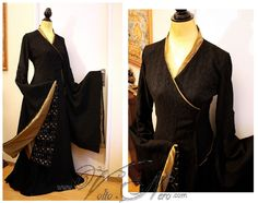 Cersei Lannister black Mourning Gown cosplay costume dress, Game of Thrones