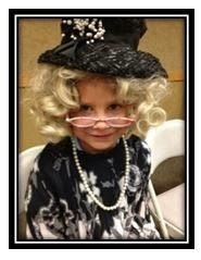 My granddaughter dressed as a GRAND Parent!  Monday was Grandparent's Day at the school where two of my granddaughters attend.  My granddaughter's first grade teacher used materials developed by a Teachers Pay Teachers seller.  I was so impressed that I had to share about it on my blog:  http://gofigurewithscipi.blogspot.com/2013/10/im-grand-parent.html
