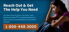 If you are being bullied or know someone that is, please do not hesitate to reach out to the Boys Town Hotline at We're here to help. Parenting Websites, Parenting Hacks, Help For Veterans, Mental Health Help, Medical Help, Frugal Living Tips, Childcare, Helping Others, Self Help