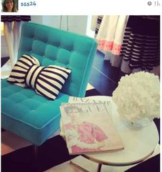 KATE SPADE bow pillow http://designindulgences.com/2013/05/10/the-prettiness-that-stormed-instagram-last-night/
