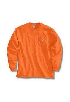 Carhartt Long Sleeve Workwear TShirt - Orange | Buy Now at camouflage.ca