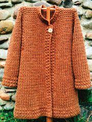 crochet coat - pattern $6.95