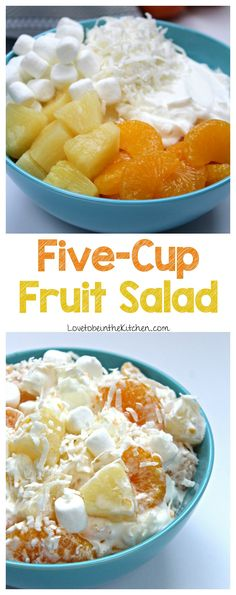 Made with only five ingredients, this Five-Cup Fruit Salad is simple, quick and so delicious!