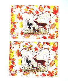Deux très jolies photos couleur thème Automne ( photo montage, feutres indélébiles ) 13 x 18 cm. : Photos par matt-et-les-petits-cadeaux