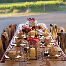 Intimate dinner party with blankets for guests as the night cools. This might be fun for an early fall outdoor party. Outdoor Dinner Parties, Dinner Party Table, Dinner Club, Wine Dinner, Party Tables, Fall Dinner, Mombasa, Georgia, Al Fresco Dining