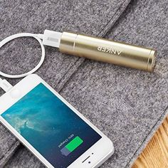 Anker PowerCore+ mini Lipstick-Sized Portable Charger Generation, Premium Aluminum Power Bank) Most Compact External Battery, Uses High-Quality Panasonic Cells Portable Phone Charger, Iphone Charger, Pokemon Go, Stocking Stuffers For Teens, Golf Cart Batteries, Gadgets, Usb, Iphone Mobile, Mobile Web