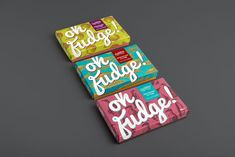 Vibrant Fudge Branding Jumps Off the Wrapper with Every Visual Element #chocolate trendhunter.com
