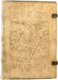 A fifteenth-century south German binding in blind-tooled pigskin. Author: Otto, von Passau, 14th cent. Title: Die vier vnd zwenzig Alten. Published: Strasbourg: Johann Schott, 1500.