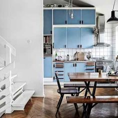 """Olli-Pekka favors classics and vintage: """"I do not want disposable things in my home""""   Design Stories Patricia Urquiola, 1950s Design, One Bedroom Apartment, Old Kitchen, House Built, Art Director, Sofa Set, Kitchen Furniture, Home Buying"""