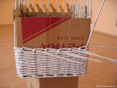 baskets from the newspapers DIY