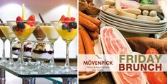 Savour Friday Brunch with unlimited house beverages at Fountain Restaurant, Mövenpick Hotel and Apartments Bur Dubai for AED 167.5 (Value AED 335) – Receive AED 50 Gift Voucher to spend at other outlets!