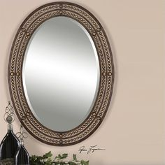 Matney Mirror in Distressed Oil Rubbed Bronze - 13716 - Lowest price online on all Matney Mirror in Distressed Oil Rubbed Bronze - 13716 34x24   $216