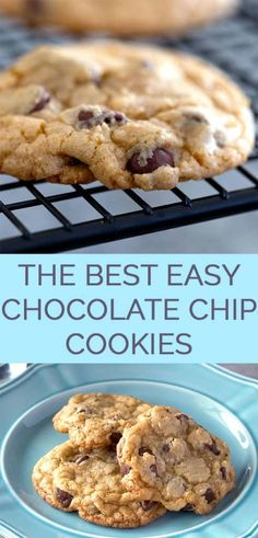 The Best Easy Chocolate Chip Cookies Recipe - An easy chocolate chip cookie reci. The Best Easy Chocolate Chip Cookies Recipe - An easy chocolate chip cookie recipe made in minutes. These are the best homemade chocolate chip cookies. Best Easy Chocolate Chip Cookie Recipe, Homemade Chocolate Chip Cookies, Cookie Chips Recipe, Homemade Cookie Recipe, Simple Cookie Recipe, Chocolate Chip Recipes Easy, Chocolate Biscuits, Brownie Recipes, Cookie Recipes For Kids