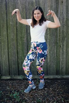 Dixie's incredible floral Steeplechase Leggings