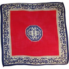 Vintage Red, White, & Blue Hankie from ruthsredemptions on Ruby Lane