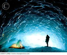 Camping in an ice cave in Canada.....so amazing