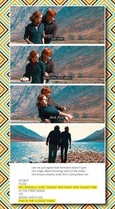 Don't tell me Ron and Hermione shouldn't have ended up together JK Rowling. Harry got everything. Let Ron have Hermione. geeezz They were the cutest thing about the Harry Potter books and movies. Drarry, Dramione, Harry Potter Jokes, Harry Potter Fandom, Harry Potter Deleted Scenes, Harry Potter Ron And Hermione, Harry Potter Tumblr Funny, Harry Potter Stuff, Harry Potter Funny Pictures