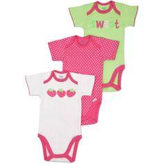 Gerber - Newborn Girls 3-Piece Assorted Bodysuits