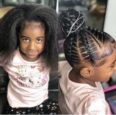 Little Girl Hairstyles Black Kids Hairstyles, Natural Hairstyles For Kids, Baby Girl Hairstyles, Kids Braided Hairstyles, Princess Hairstyles, Kids Natural Hair, Little Girl Braid Hairstyles, Female Hairstyles, Hairstyles Pictures