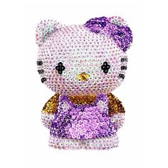 3D Sequin Art Hello Kitty Craft Kit A wonderful 3D sequin art Hello Kitty in pink dress. Transform this Sequin Art 3D polystyrene Hello Kitty into stunning model using an array of colourful sequins.