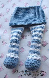Bebe Sonia - Amigurumi Free Patterns and Amigurumi Tutorials Handmade Dolls Patterns, Crochet Dolls Free Patterns, Doll Sewing Patterns, Crochet Doll Pattern, Crochet Blanket Patterns, Crochet Stitches, Love Crochet, Knit Crochet, Crochet Baby Clothes
