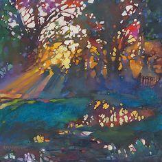 Just Landscape Animal Floral Garden Still Life Paintings by Louisiana Artist Karen Mathison Schmidt: A New Song fauve impressionist landscape oil pain...