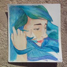 Dibujos - Navegar. Acuarela original - hecho a mano por SapoConcho en DaWanda