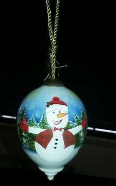 Ne-Qwa-Art-Christmas-Ornament-Snowman-034-Winter-Delight-034-by-Artist-Trieste-Cordova