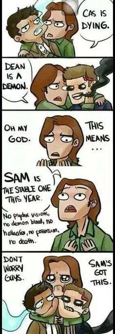 Don't worry guys. Sammy's got this. #thewalkingdead