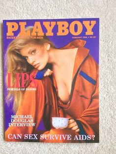 playboy - february 1986 back issue. julie mccullough centerfold.  like new. from $1.99