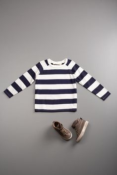 wide stripe tee by flora and henri