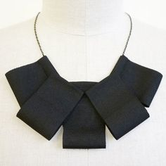 Rosette Necklace Black, 32€, now featured on Fab.