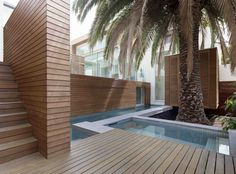   Lim House by Coy Yiontis Architects   Melbourne, Victoria, Australia   Photography: Peter Clarke Architects Melbourne, Dramatic Effect, Timber Flooring, Victorian Homes, Restoration, Outdoor Decor, Outdoor Decking, Landscape, Architecture