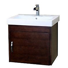 Bellaterra Home Medium Walnut Single Sink Bathroom Vanity with White Vitreous China Top at Lowe's. Wall mount style vanity features with solid birch cabinet in rich walnut finish. Steel bracket in back for easy installation. Floating Bathroom Vanities, Single Sink Bathroom Vanity, Single Bathroom Vanity, Vanity Sink, Lowes Bathroom, Mirror Bathroom, Basement Bathroom, Bathroom Fixtures, Small Bathroom
