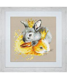 Rabbits Cross Stitch kit Cross Stitch Set Embroidery Kit Luca-S DIY