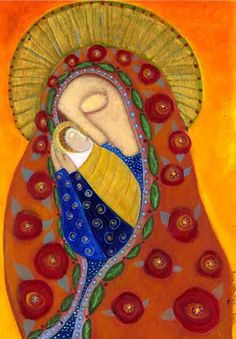 Madonna and Child door RoseWalton Madonna Art, Madonna And Child, Christian Images, Christian Art, Religious Icons, Religious Art, Mary And Jesus, Spirited Art, Arte Popular