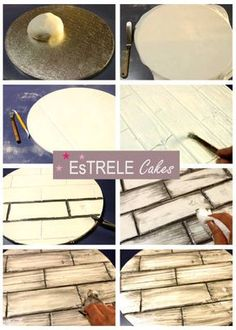 This is how I create my wooden flooring for my cake bases…. I hope it is of some help, and should anyone have any questions please ask away…if anyone makes use of it I would LOVE to see the results (either here or on facebook...