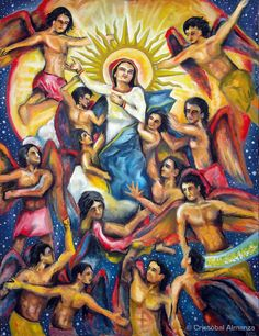 ANGELS AND THE GLORIOUS ASSUMPTION [PAINTING]