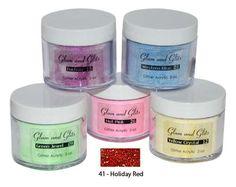 glam and glitz acrylic powder | Glam & Glits - 41 - Holiday Red - Glitter Acrylic 2 oz - Discount ...