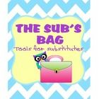 The Sub Bag is a collection of information I have put together from my experience as a substitute teacher. This packet includes tips for new subs ...
