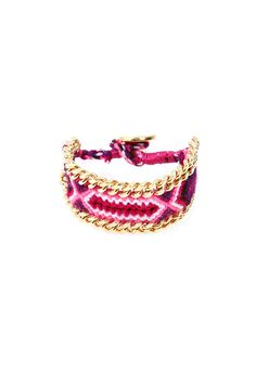 Kim & Zozi Chain 300 Bracelet in Gold/Pink Multi $88