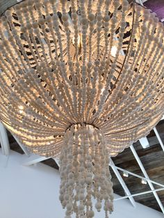 another close up of the clay beaded chandelier from the calypso st. barths store....love!!!