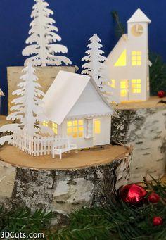 Diy christmas village ideas tea lights ideas for 2019 Diy Christmas Village, Best Christmas Lights, Decorating With Christmas Lights, Christmas Villages, Christmas Home, Christmas Crafts, Christmas Decorations, Xmas, Christmas Ornaments