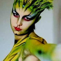 Rain Forest Lizard Inspired- Special Effects Makeup by henrietta