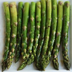Roasted Asparagus with Balsamic Browned Butter ~ Best way I've ever eaten asparagus!!! Made this tonight with lemon dill salmon and sticky rice... Mmmhmmm