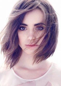 Znalezione obrazy dla zapytania lily collins short hair