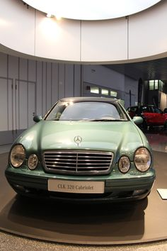 The Mercedes-Benz CLK Cabriolet is designed as a full four-seater. In the Mercedes-Benz Museum you can see the 1998 CLK Mercedes E Class Coupe, Mercedes Clk, Stuttgart Germany, Automobile, Museum, Bike, Cars, Classic, Envy
